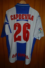 RCD ESPANYOL MATCH WORN ISSUE FOOTBALL SHIRT CAMISETA JERSEY PUMA #26 CAPDEVILA
