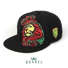 Og Abel Crown Rasta Lion Shield Tattoo Inked Punk Skater Snapback Hat Cap Blk