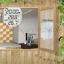 Wireless Thermometer Weather Station With Rain Gauge For Indoor Outdoor Temp New