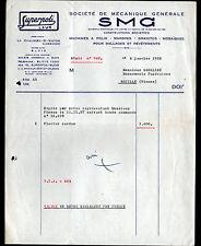 """LA CHAUSSEE-SAINT-VICTOR (41) Constructeur de MACHINES à POLIR """"S.M.G."""" en 1958"""