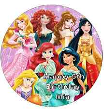 "Disney Princess Personalised Cake Topper 7.5"" Edible Wafer Paper  Birthday Party"