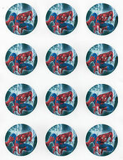 12  Edible Spiderman Cupcake Toppers
