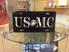 USMC:  Novelty Vanity License Plate, Made In The U.S.A. With Pride (GOD BLESS)
