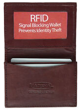 D Red RFID Security Safe Leather Expandable Credit Card ID Business Case Wallet