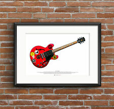 Alvin Lee's Gibson ES-335 Big Red guitar ART POSTER A2 size