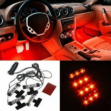 4X3 Attractive 12V Orange LED lights for car interior ON-OFF switch