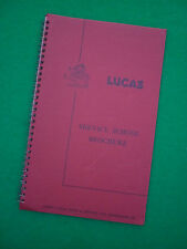 LUCAS SERVICE SCHOOL ELECTRICAL COURSE BROCHURE - 1960's