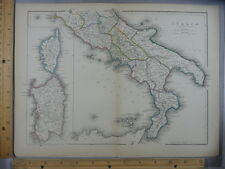 Rare Antique Original VTG Northern Italia Italy Map Atlas Illustration Art Print