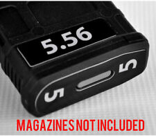 5.56 MAGAZINE STICKERS fits MAGPUL PMAG 30 GEN M3 AR15-M16-M4 WHITE NUMBERS 1-6