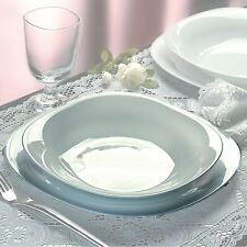 Bormioli Rocco Parma 19 Pcs Dinner Service Set Opal Glass Tableware Dining Plate