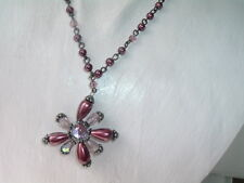 EXPRESS PURPLE PEARL AND CRYSTAL STAR NECKLACE IN GIFT BOX