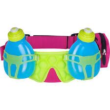 FuelBelt Helium H2O 2-Bottle Hydration Race Belt - Maui PinkHonolulu Blue/Lagoon