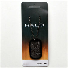 Halo 5 Guardians UNSC Printed Stamped Metal Dog Tag Ball Neck Chain Necklace NEW