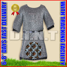 ALUMINIUM CHAINMAIL SHIRT BUTTED CHAIN MAIL HAUBERGEON  Large Size SS 1989 DD