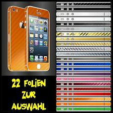 IPHONE 5S FOLIE ORANGE CARBON ( BUMPER COVER SCHALE LADEKABEL NETZTEIL )