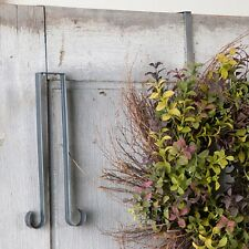 Indoor Outdoor WREATH HANGER Primitive Country Tin Double Door Hook Made in USA