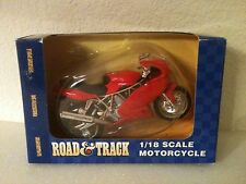 MAISTO ROAD & TRACK DUCATI MOTORCYCLE DIE CAST 1:18