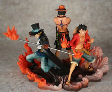 One Piece D.ACE Sabot Luffy Anime Manga Figuren Set H:14-17cm Neu