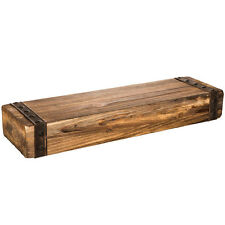 Rustic Chunky Wall Shelf Fireplace Wood Display Mantel