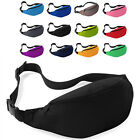 Outdoor Sport Bum Bag Fanny Pack Travel Waist Money Belt Zip Pouch Wallet Plain