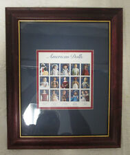 Classic American Dolls 32 Cent Stamps Sheet Framed!