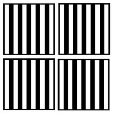 BLACK & WHITE STRIPES - SET OF 4 FUN COASTERS - GIFT/ PRESENT - OR ANY 2 COLOURS