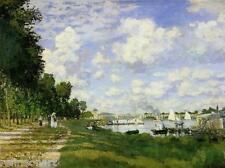 Handmade Oil Painting repro Claude Monet The Marina at Argenteuil