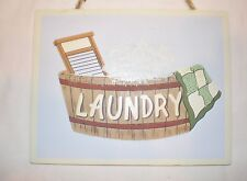 Vintage Retro style Laundry tub Country Wood Sign