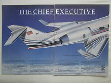 9/1985 PUB ROLLS-ROYCE TAY ENGINE GULFSTREAM IV EXECUTIVE JET ORIGINAL AD