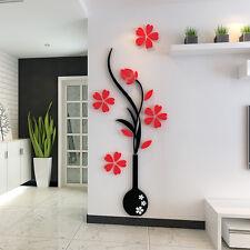 Neu Wandtattoo Bild Sticker Zuhause Deko Schlaf Wohn Zimmer Flur Baum Blume