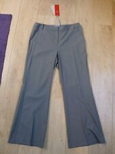 BNWT Pure Collection SMART fine 96% LANA MORBIDA sfoderato Bootcut Pantaloni Grigio 12l