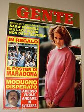 GENTE=1984/29=POSTER MARADONA NAPOLI CALCIO=VERA DURBE MODIGLIANI=ALFA ROMEO 33=