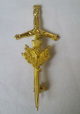 "Thistle Kilt Pin Gold Finish 3.5""/Scottish Kilt Pin Sword Thistle Hilt/Child Pin"