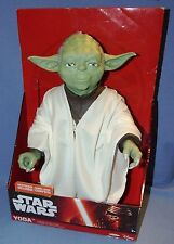 "Disney Star Wars YODA 18"" Figure with Fabric Cloak and Lightsaber - New in Box"