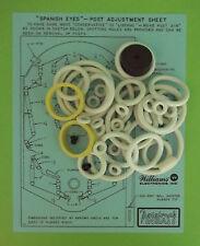 1972 Williams Spanish Eyes pinball rubber ring kit