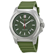 Victorinox Swiss Army Inox Green Dial Green Rubber Mens Watch 241683.1