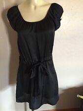 Paul & Joe Sister Rendez Vans Black Gather Waist Dress W/ Pockets Size XS Euc