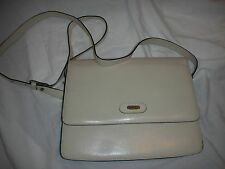 Vantage collectable  BALLY CREAM LEATHER SHOULDER BAG