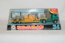 Eidai Grip, 1970's Isuzu Lowboy Semi Truck with Caterpillar Bulldozer, Nice