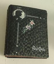 Victorian Post Card Album w Silhouette Design * Empty