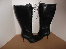 COLE HAAN LEATHER BOOTS, SIZE 7 1/2 B BLACK