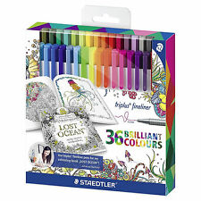 STAEDTLER Triplus fineliner 334 C36JB 36 Brilliant Colours water-based ink 0.3mm