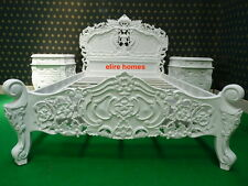 "UK STOCK ... 4'6"" Double Size oriental carved mahogany Baroque French Rococo bed"