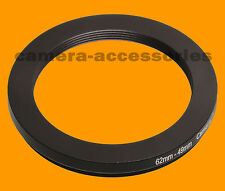 62mm to 49mm 62-49 Stepping Step Down Filter Ring Adapter 62-49mm 62mm-49mm