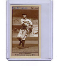 1941 Fred Hutchinson Buffalo Bisons pitcher/outfielder 26 wins & batted .392