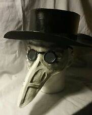 Plague doctor hat and mask set