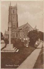 The Church & War Memorial ?, HARTLAND, Devon RP