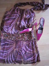 sexy Cocktailkleid Party Kleid SUE WONG USA  Gr.S  mit Rene Caovilla High Heels