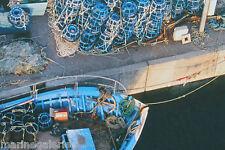 Tableau PHOTO sur toile bateau de pêche quai breton Bretagne déco marine Neuf