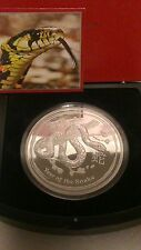 """Australian Lunar II """"Year of the Snake""""  2013 1 KG Silver coin, PROOF"""